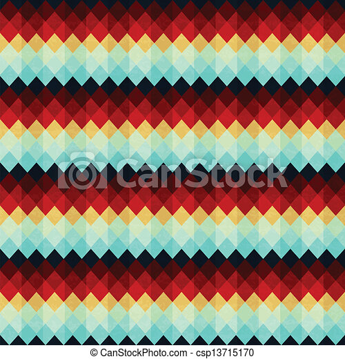 vintage zigzag seamless pattern - csp13715170