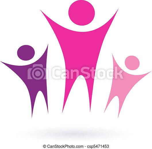 Women group / community icon - csp5471453