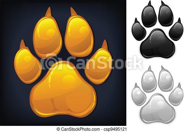 Yellow paw prints - csp9495121