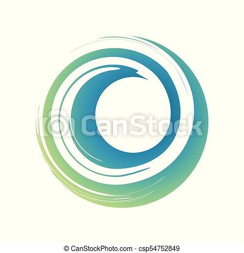 Zen Curl Wave Symbol - csp54752849